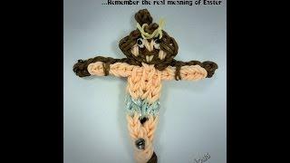 Rainbow Loom Jesus Christ on the Cross Charm - Easter Special Tutorial