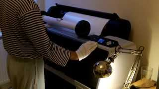 Epson 7890 change roll and nozzle test check