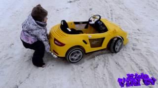 видео: Как мы ездим на порше зимой/детский электромобиль/ porsche