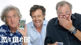 jeremy clarkson richard hammond james may show us the last thing on their phones   wired