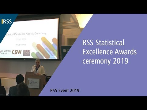 RSS Statistical Excellence Awards ceremony 2019