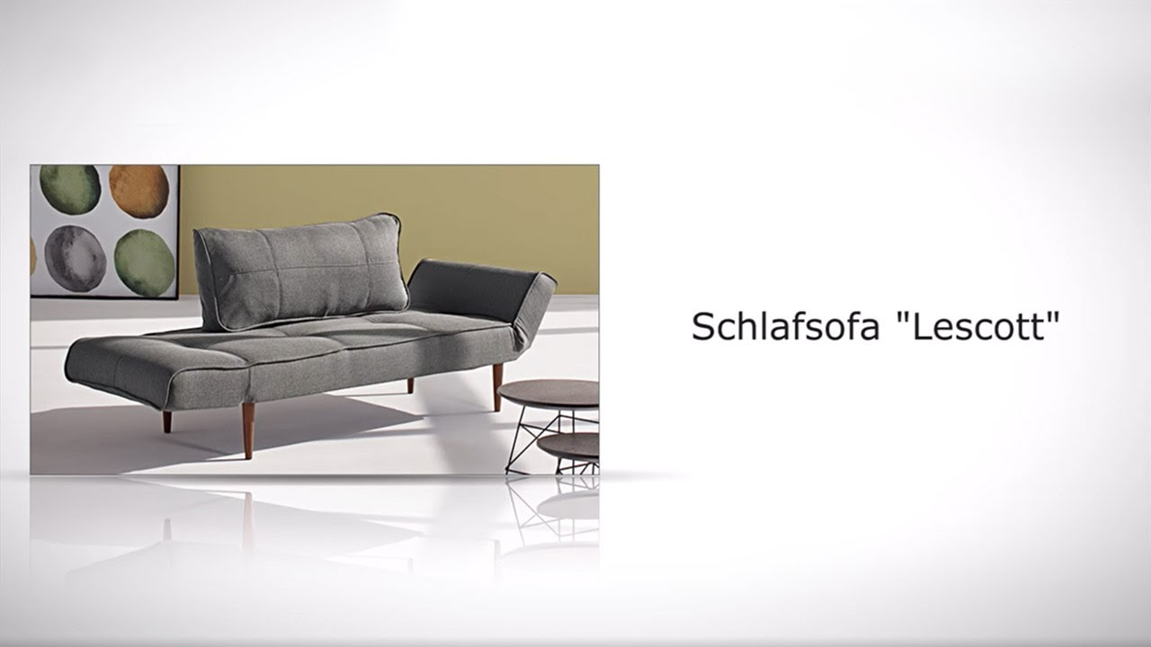 schlafsofa im retro design mit taschenfederkern lescott. Black Bedroom Furniture Sets. Home Design Ideas
