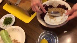 Сыроедческие, вкуснейшие кабачки, со свеклой
