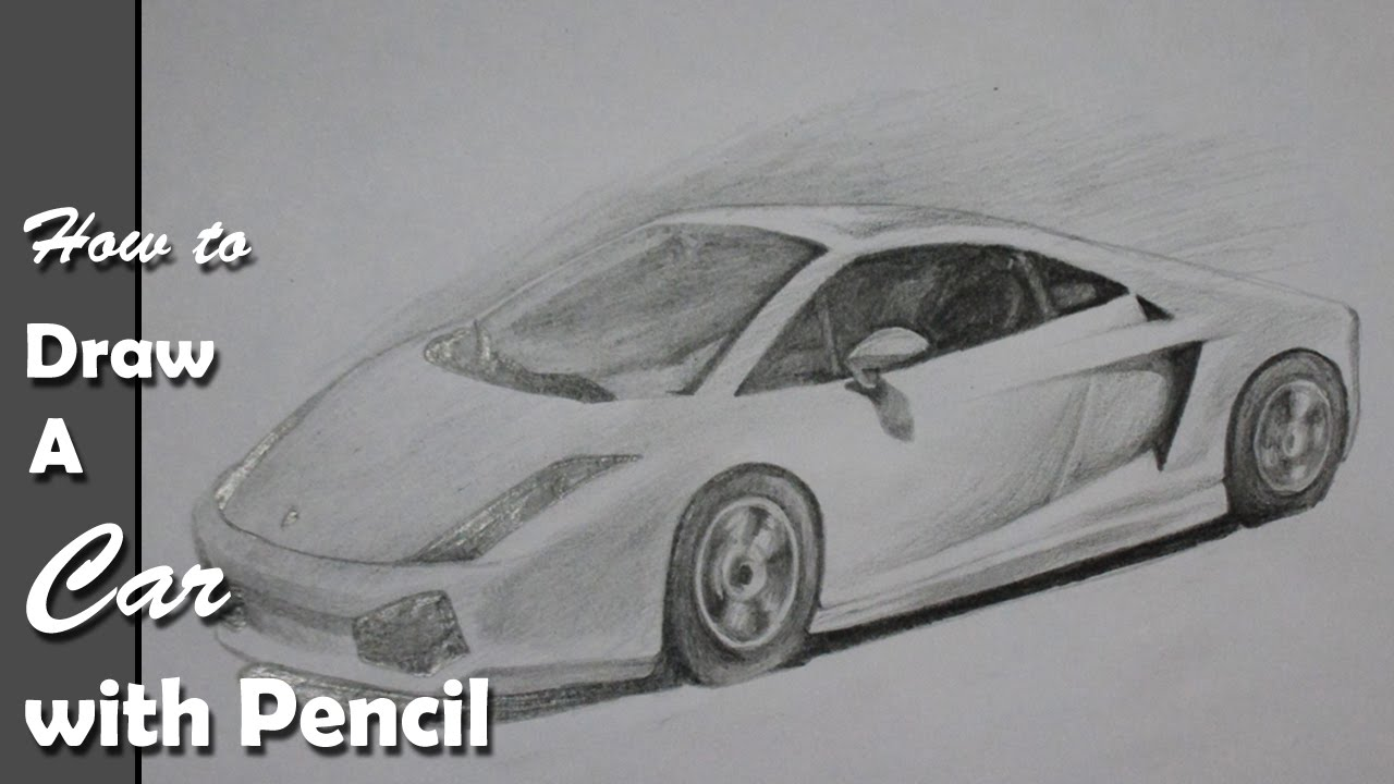 How to draw a car lamborghini step by step with pencil