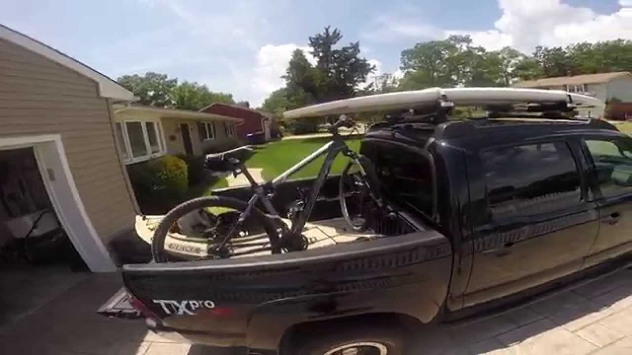 Toyota Tacoma Pickup With Sup Kayak Mountain Bike Tour