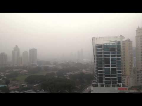 Rain in Panama City