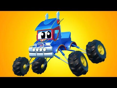 Super Truck -  STUNT MONSTER TRUCKS! - Car City - Truck Cartoons For Kids