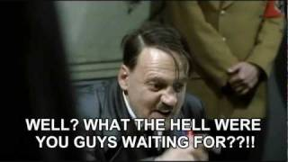 Hitler finds out that Eva Braun has updated her Facebook status to domestic partnership