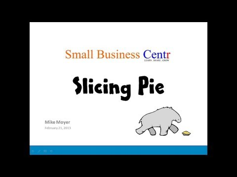 Slicing Pie: Funding Your Company Without Funds