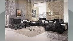 Modernes Wohnzimmer schwarzes Ledersofa Ideen   Haus Ideen