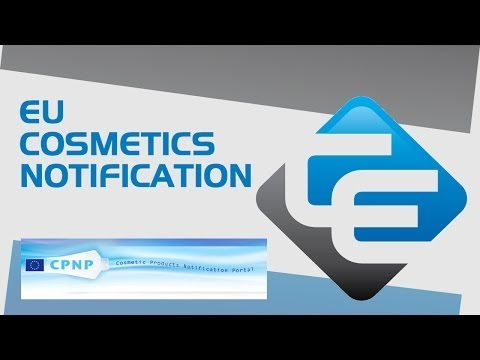 EU Cosmetics Notification - CPNP Portal