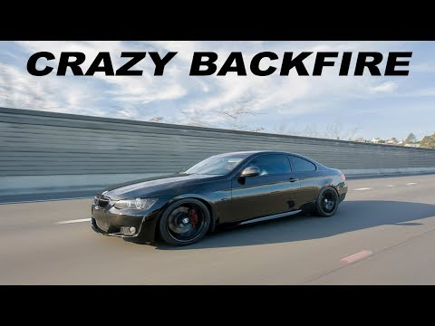 470HP BMW E92 335i N54 - LOUD Exhaust Backfire (Factory Catback)