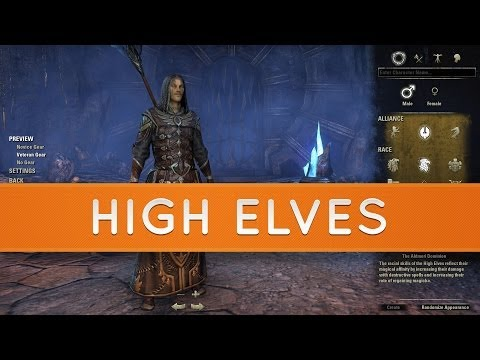 The Elder Scrolls Online: Races - High Elves | Altmer