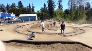 J & S Hobbies 1/10 scale 4x4 short course truck, race #12 heat 1- 05/04/2013
