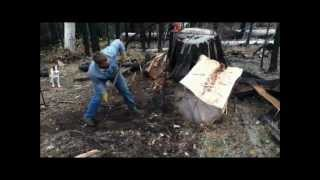 Making Cedar Posts By Hand