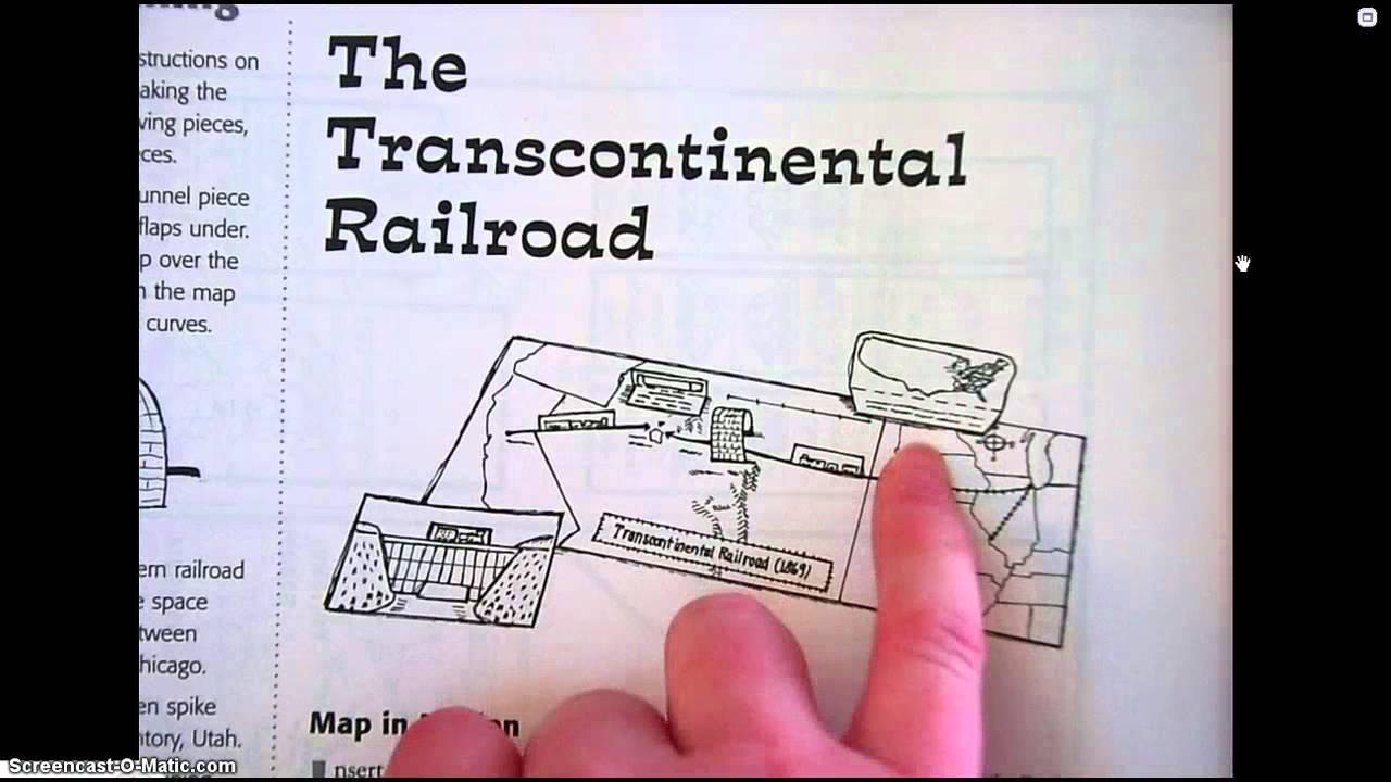Map Transcontinental Railroad