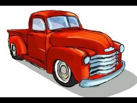 Truck Step Up >> How to draw a Chevy truck - YouTube