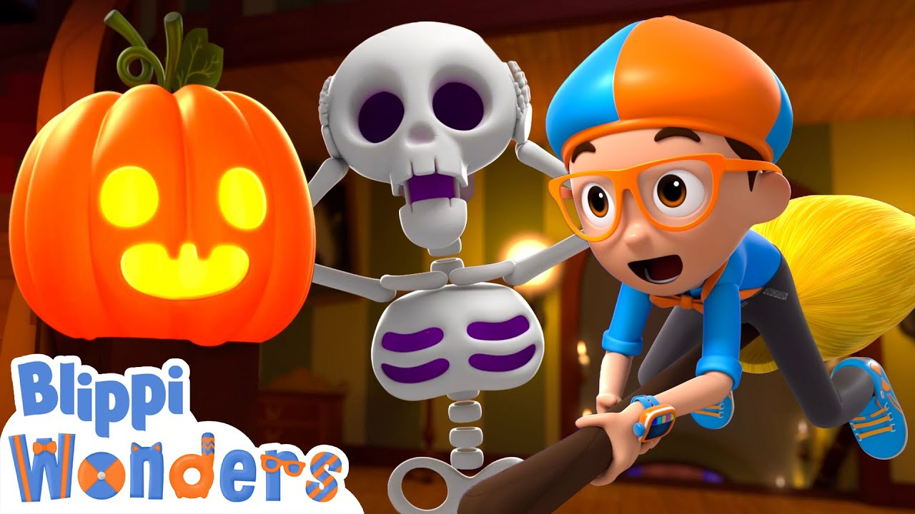 Download Blippi Wonders - Halloween Haunted House! | Blippi Animated Series | Halloween For Kids