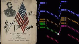 Sousa, Stars and Stripes Forever, animated piccolo