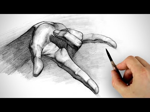 Graphite Pencil Demo - Tips on Drawing and Shading Hands