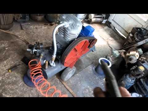 Компрессор СО-7 с автоматикой и обратным клапаном (более подробное видео о комплектации и работе)