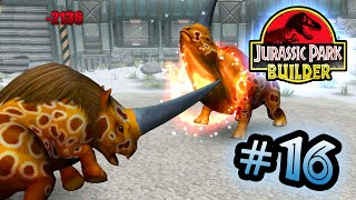 Jurassic Park Builder: GLACIER Tournament: Part 16 Rhino Rumble! HD