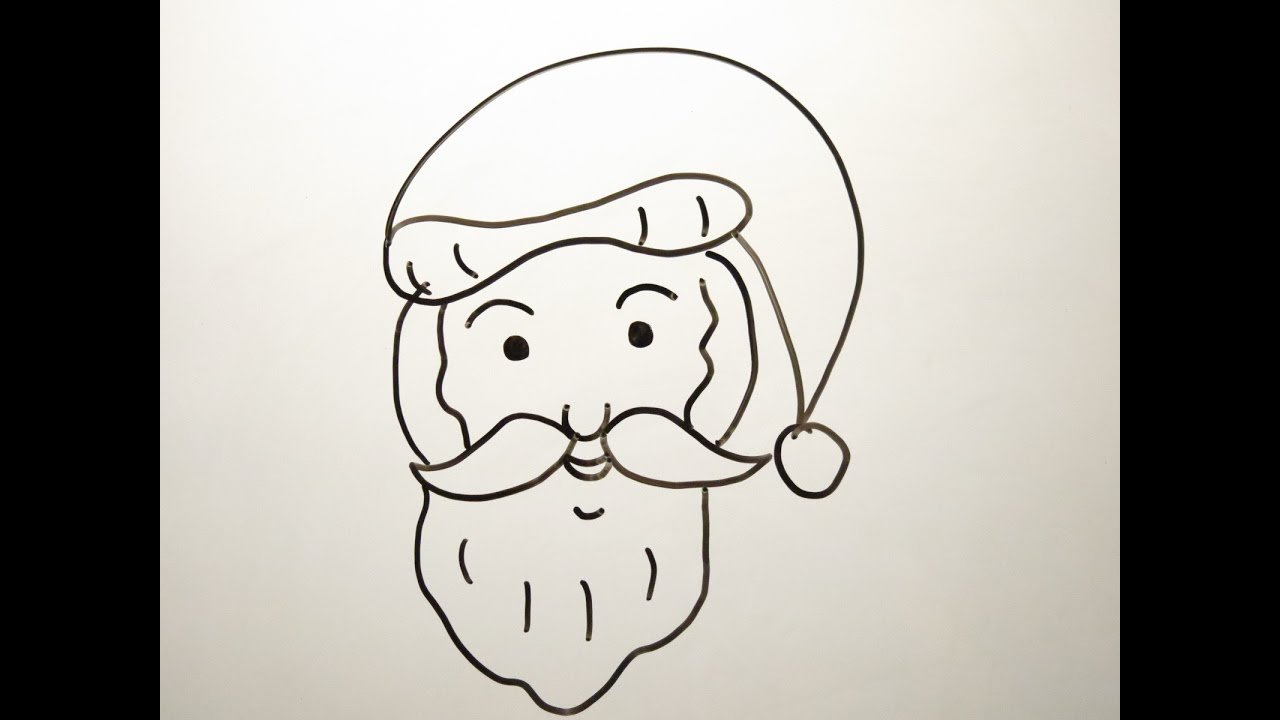 diy learn how to draw santa claus easy drawings for kids youtube