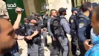 شاهد.. قوات الاحتلال الإسرائيلي تقتحم الأقصي