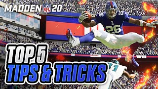 Top 5 Tips and Tricks that are NEW in Madden 20!
