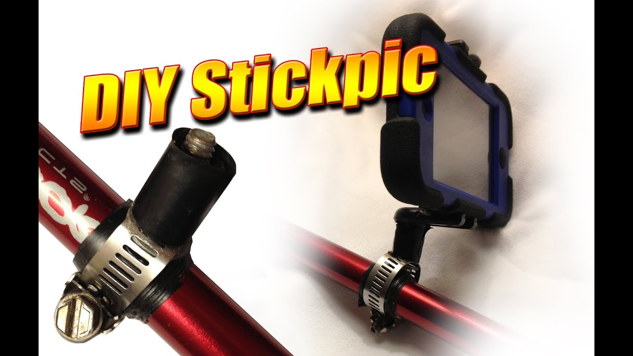 diy stickpic mount to attach your camera to a trekking pole or stick youtube. Black Bedroom Furniture Sets. Home Design Ideas