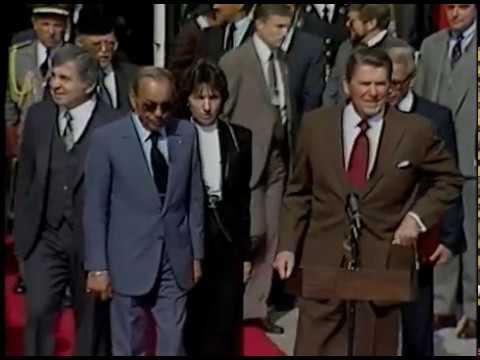 President Reagan's and King Hassan's II of Morocco Departure Remarks on October 22, 1982