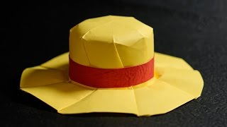 Paper Hat - Origami STRAW HAT - MUGIWARA tutorial - DIY (ver 2.0) (Henry Phạm)