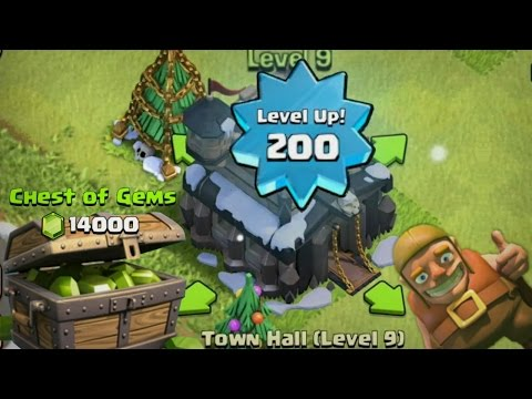 Clash of Clans Lets Play: SUPER GEMMING PART 2! TONS OF GEMS - UPGRADING TOWNHALL!