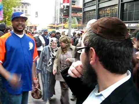 Angry Anti-Semite@ OWS Zucotti Sq