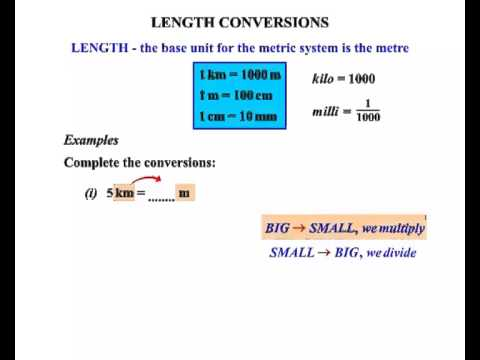 year 11 and 12 general maths length conversions i youtube. Black Bedroom Furniture Sets. Home Design Ideas