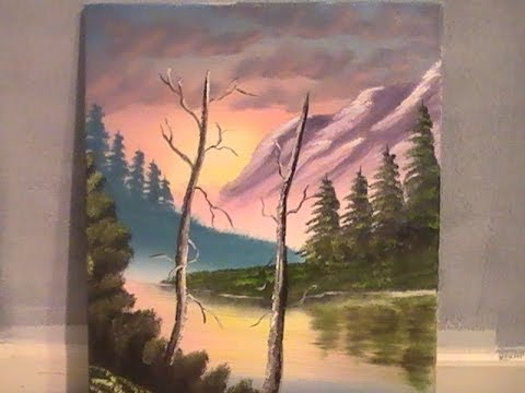 full length oil painting wet on wet purple sunrise 1/300