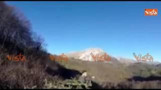 Il terremoto di Norcia visto in diretta dai cacciatori