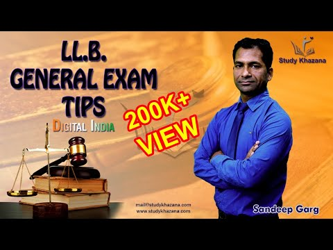 LLB Exam Tips - Entrance Preparation (Law) by Sandeep Garg | StudyKhazana