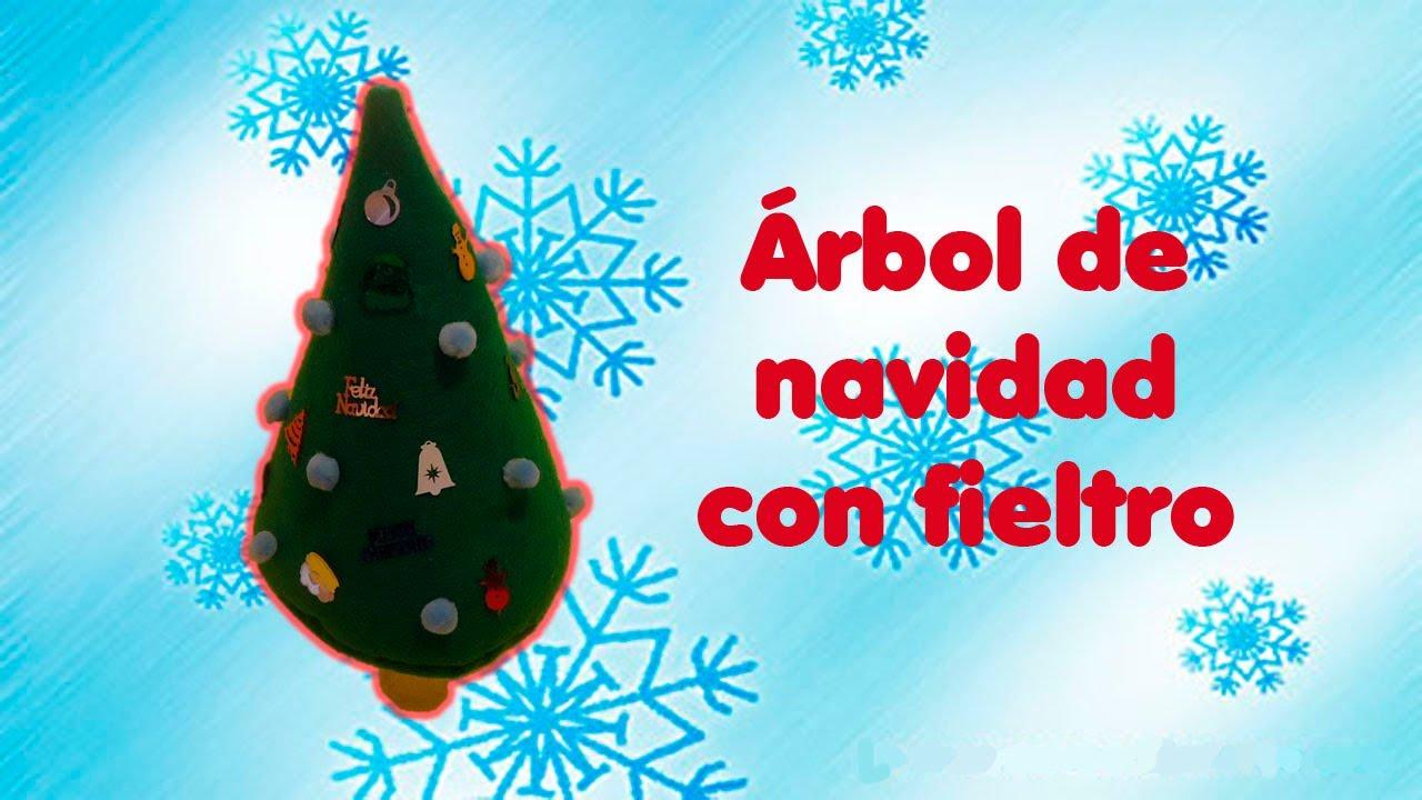 Diy rbol de navidad con fieltro f cil - Arbol de navidad con adornos de fieltro ...