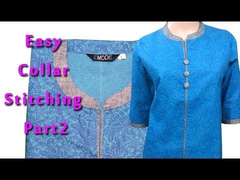 how to cut stand collar kurti