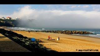 brume sur la plage d'Anglet