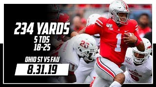 Justin Fields Full Coverage Ohio State vs FAU | 18-25 234 Yards, 5 TDs | 8.31.19