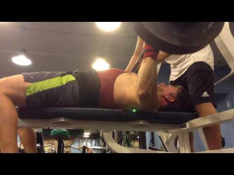 Mark Mcentee - 255 lb. Paused Bench Press x3 @ 194 lbs. BW.