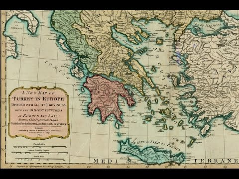 A New Map Of Turkey In Europe London 1794 Youtube