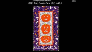 Halloween Quilt Patterns by Castilleja Cotton 2017