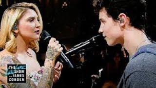 "Gambar cover SHAWN MENDES LIVE With JULIA MICHAELS ""Like to Be You"" PERFORMANCE On JAMES CORDEN SHOW 7th JUNE_WOW"