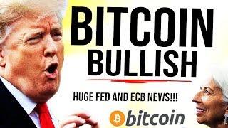TRUMP ATTACKS FED!! 😳 BITCOIN BULLISH, ECB HUGE NEWS