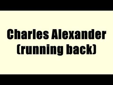 Charles Alexander (running back)