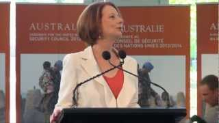 Prime Minister Gillard thanks DFAT staff for the UNSC campaign