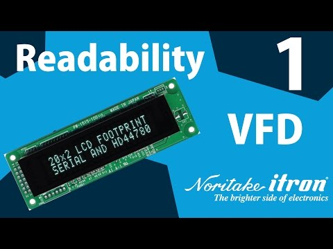 Noritake VFD: Readability Part 1 - Viewing Angle
